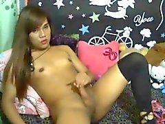 Hot Tranny Webcam Cumshot