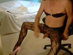 Innocent Blonde CD Pleases You In Bodystocking and Heels
