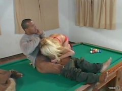 Delicious Marylyn get fucked on a pool table