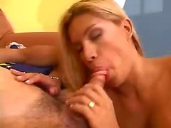 Anal fun with a busty blond TS