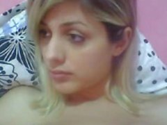 T-girl blonde teen on webcam