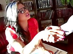 Tattooed tranny gets fucked in the library