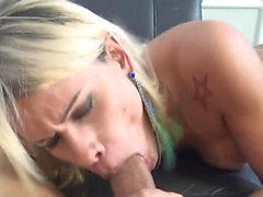 blonde chick with dick