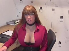Chrissina Lovegag in: Ultra Buxom Boss-Lady Bound and Gagged!