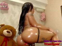 Hot Teen Latina Lovense Shemale Teen on Webcam, Part 1