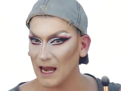 Resting Bitch face Drag Queen Makeup