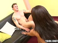 Horny shemale Isis enjoys riding the studs big hard dick