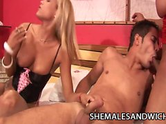 Adriana Ventury and Fabyana Kanavo - Shemale Domination