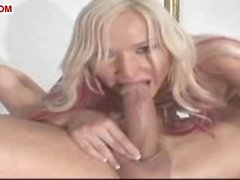 Blonde shemale for sucking and fucking