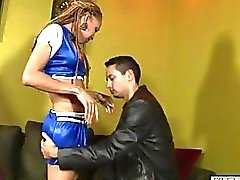 Tranny cheerleader fucked her dudes anus in doggystyle