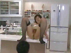 Cute Asian CD gurl making love in the kitchen