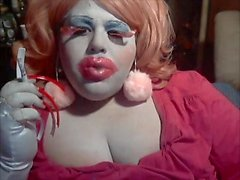 BBW Sissy Diane Big Lips Big Nails Big Lashes Smoke