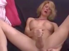 Hot Delia Cums On Table
